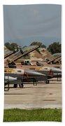 Israeli Air Force F-16`s Of Three Beach Towel
