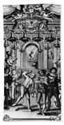 Italian Comedians, 1689 Beach Towel