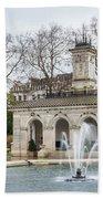 Italian Fountain In London Hyde Park Beach Towel by Semmick Photo