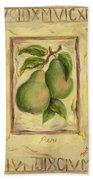 Italian Fruit Pears Beach Towel