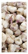 Italian Garlic Bulbs Beach Towel