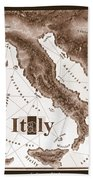 Italian Map Beach Towel
