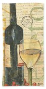 Italian Wine And Grapes 1 Beach Towel by Debbie DeWitt
