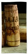 Italian Wine Corks Beach Towel