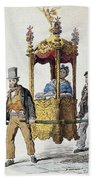 Italy Sedan Chair Beach Towel
