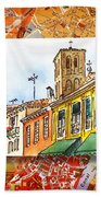 Italy Sketches Venice Via Nuova Beach Towel