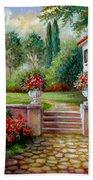 Italyan Villa With Garden  Beach Towel