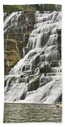 Ithaca Falls Beach Towel by Anthony Sacco