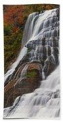 Ithaca Falls In Autumn Beach Towel