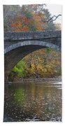 It's Autumn At The Valley Green Bridge Beach Towel