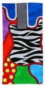 It's Electric Acrylic By Diana Sainz Beach Towel