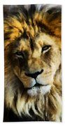 Its Good To Be King Portrait Illustration Beach Towel