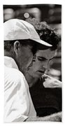 Ivan Lendl And Andy Murray  Beach Towel by Nishanth Gopinathan
