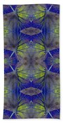 Ivy Abstract 1 Green Blue Beach Towel