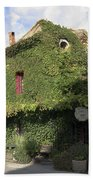 Ivy Covered Cottage Beach Sheet