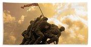 Iwo Jima Memorialized Beach Towel