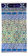 Iznik Ceramics With Floral Design Beach Towel