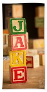 Jake - Alphabet Blocks Beach Towel