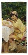 Jack In The Garden Beach Towel by Giacomo Grosso