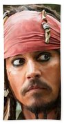 Jack Sparrow Beach Towel