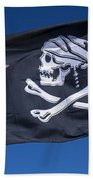 Jack Sparrow Pirate Skull Flag Beach Towel