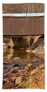Jacks Creek Bridge Over Smith River Beach Towel