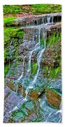 Jackson Falls At Mile 405 Natchez Trace Parkway-tennessee Beach Towel
