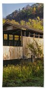 Jackson Mill Covered Bridge Beach Towel