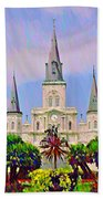 Jackson Square In The French Quarter Beach Sheet