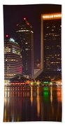 Jacksonville Aglow Beach Towel
