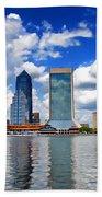 Jacksonville Skyline Beach Towel