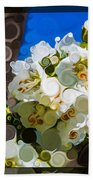 Jacobs Ladder Abstract Flower Painting Beach Towel