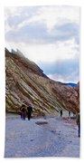 Jagged Edges On Canyon Walls In Golden Canyon Trail In Death Valley National Park-california  Beach Towel