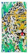 Jaguar - Enamels Painting Beach Towel