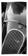 Jaguar Hood Emblem - Grille Beach Towel by Jill Reger