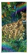 Jaguar Meadow  Variant 1 Beach Towel