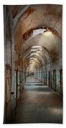 Jail - Eastern State Penitentiary - Endless Torment Beach Towel