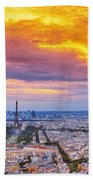 J'aime Paris Beach Towel