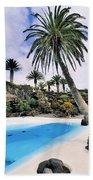 Jameos Del Agua On Lanzarote Beach Towel
