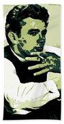 James Dean Poster Art Beach Towel