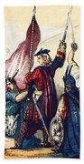 James IIi Lands In Scotland, 1715 Beach Towel