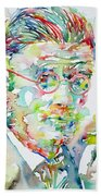 James Joyce Portrait.1 Beach Towel