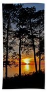 James River Sunset Beach Towel