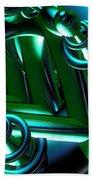Jammer Blue Green Flux 001 Beach Towel