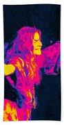 Janis Joplin Psychedelic Fresno 2 Beach Towel by Joann Vitali