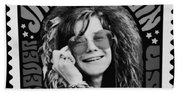 Janis Stamp In A Black And White Vibe Beach Towel