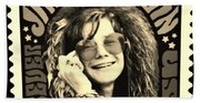 Janis Stamp In A Sepia Vibe Beach Towel