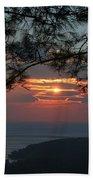 January Sunset Akyaka Beach Towel