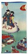 Japan: Tale Of Genji Beach Sheet