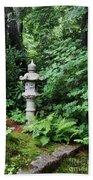 Japanese Garden Lantern Beach Towel